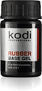 Professional Rubber Base Gel By Kodi | Soak Off, Polish Fingernails Coat Kit | For Long Lasting Nails Layer | Easy To Use, Non-Toxic & Scentless | Cure Under LED Or UV Lamp | 14ml 0.49 oz