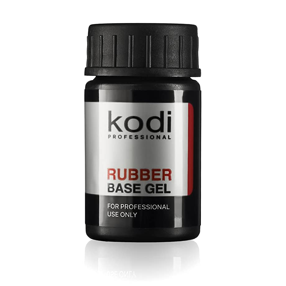 カッター錫胸Professional Rubber Base Gel By Kodi | 14ml 0.49 oz | Soak Off, Polish Fingernails Coat Gel | For Long Lasting Nails Layer | Easy To Use, Non-Toxic & Scentless | Cure Under LED Or UV Lamp