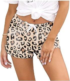 Winwinus Womens Casual Loose Tie Dye Print Elastic Waist Pajama Shorts