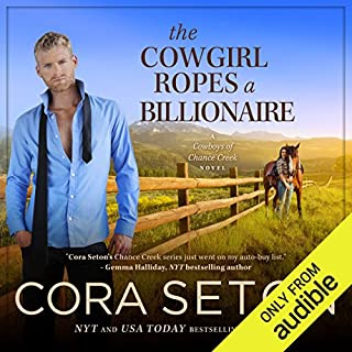 The Cowgirl Ropes a Billionaire audiobook cover art