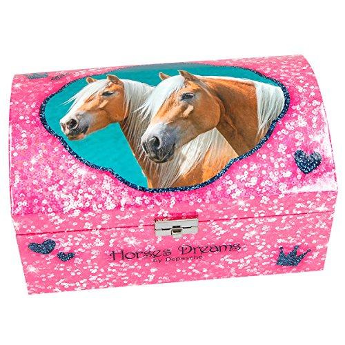 Unbekannt Horses Dreams 8934.001 Schmuckkästchen mit Geheimfach, pink, girls