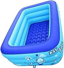 Moligin Golpe 1PC Piscina Inflable para niños con Rectangular Bañera para bebés de hasta Piscina para niños Cuenca del Patio Trasero 120x80x50cm