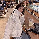 XYZMDJ Algodón Corduroy abrigo mujer 2020 invierno espesado cálido hip- hop chaqueta corta mujer de alta calidad de alta calidad Outwear mujer parkas (Color : D, Size : Large)