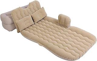 Cojín de descanso inflable para coche, cama inflable, portátil, colchón de coche, cómodo cojín para asiento trasero de coche, con bomba de aire y dos almohadas de aire para exteriores 5-4