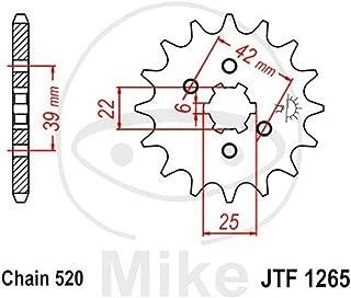 21.7//25 JT JTF1381.16RB Pignone Silenziato 16 Denti Passo 520 Gommato Diam.Int