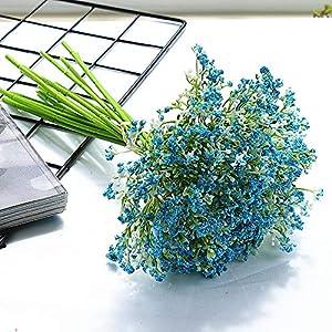 Silk Flower Arrangements XIDA 16 Letters Baby's Breath cordate telosma Artificial Flower Home Decoration Photography Props Handmade DIY (Blue)