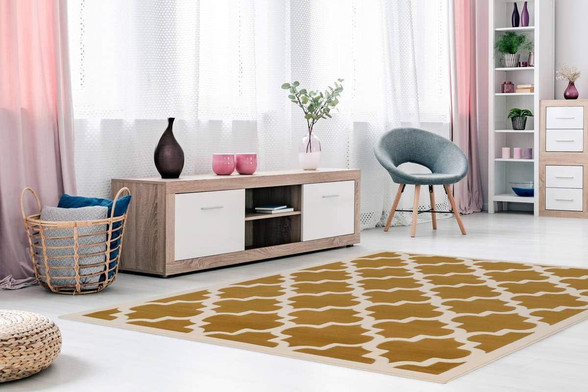 Muster Teppiche 3D-Effekt Elfenbein Türkis Teppich Modern Flachflor Geometr
