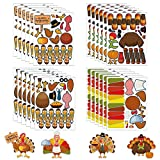 PACKAGE INCLUDES: Including 20 make-A-Turkey Sticker sheets, 4 styles in one set, each styles has 6 sheets. HIGH QUALITY: The thanksgiving crafts stickers are made of paper, self-adhesive strickers. non-toxic& no smell,thickly and durable. FUNNY & CU...