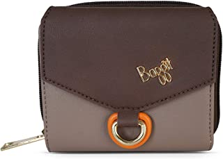 Baggit Autumn-Winter 2020 Faux Leather Women's 3 Fold Wallet (Beige) (Clog)