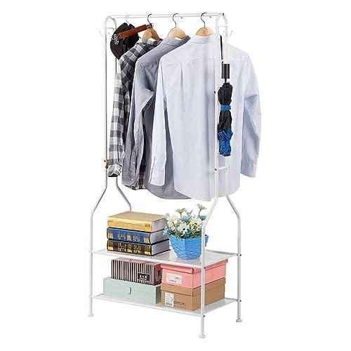 LANGRIA Heavy Duty Commercial Grade Clothing Garment Rack, 2 Tier Entryway  Metal Coat Rack