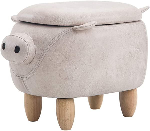 Solid Wood Stool Cartoon Cute Home Living Room Bedroom Adult Children Change Shoes Stool Storage Storage Simple