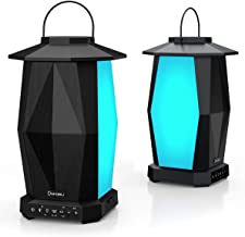 Onforu Bluetooth Speaker, 2 Pack 25W Party Speaker with HD Stereo Sound for Outdoor, IPX5 Waterproof Wireless Pairing Speakers with LED Mood Lights for Party, Halloween, Christmas
