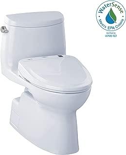 TOTO MW614584CEFG#01 WASHLET+ Carlyle II One-Piece Elongated 1.28 GPF Toilet and WASHLET S350e Bidet Seat, Cotton White