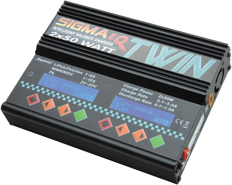 precio razonable Cochegador multifunción de modelismo 12V, 220V 5A Ripmax Sigma Twin Twin Twin  minorista de fitness
