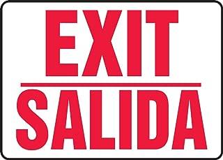 Accuform SBMEXT906MVS Spanish Bilingual Adhesive Vinyl Safety Sign, Legend
