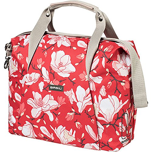 Basil Schultertasche Carry All Bag Magnolia 18L Poppy red + SCHLAUCHFLICKEN