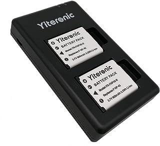 Yiteronic NP-45S 互換充電式リチウムイオンバッテリー2個 + USB充電器 対応機種 Fujifilm NP-45S/NP-45A/NP-45, Olympus Li-42B/Li-40B, Fujifilm XP130 XP140 XP120