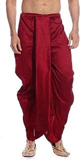 ROYAL Kurta Men's Art Silk Fine Quality Ready to Wear Dhoti Pant Free Size Red