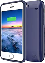 iPhone 5/5S/SE Battery Case ,4500mAh Portable Rechargeable Protective Charging Case Compatible with iPhone 5/5S/SE (4.0 inch) Extended Battery Pack Charger Case (Blue)