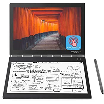 """2019 Newest Lenovo Yoga Book C930 10.8"""" Dual-Display QHD 2560 x 1600 IPS & FHD 1920 x 1080 E Ink Mobius Touchscreen Light Weight Active Pen Intel Core i5-7Y54 Up to 3.2GHz 4G RAM 128G M2 SSD Grey"""