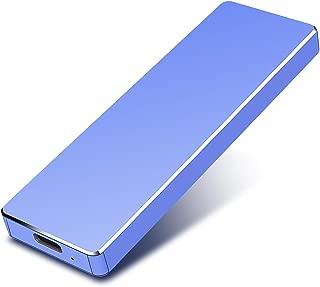 ハードディスク2TB 外付けHDD Type C/USB3.1 外付けハードディスク 超薄型 ポータブルHDD 静音PS4/Latop/Windows/Mac/Android 適用(2TB, 青)