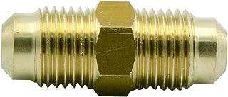 Legines Brass Tube Fitting, SAE 45 Degree Flare Straight Union, 5/8