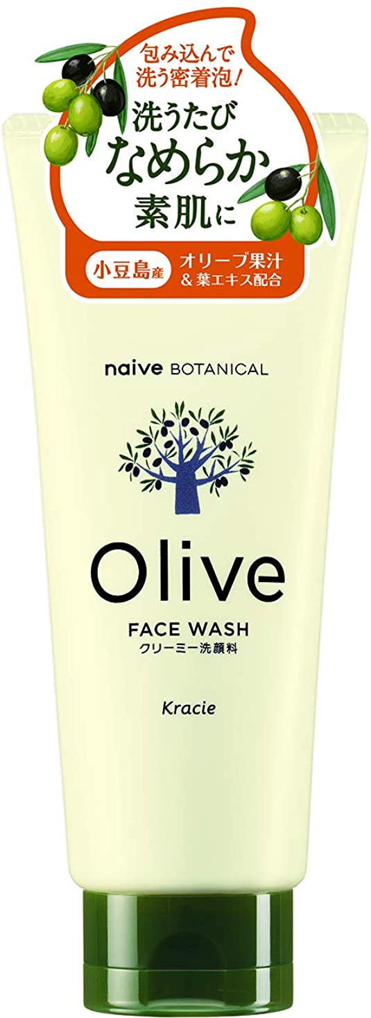 さようなら促進するめったにオリーブの恵み ナイーブ ボタニカル クリーミー洗顔料130g