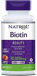 ( Biotin Beauty Tablets, Promotes Healthy Hair, Skin Nails, Helps Support Energy Metabolism, Helps Convert Food Into Energ...