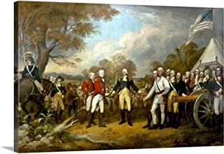 Revolutionary War Painting Showing The Surrender of British General John Burgoyne Canvas Wall A.