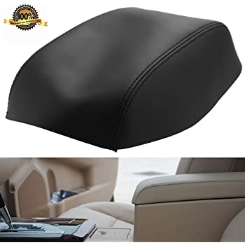 ECCPP Leather Armrest Center Console Lid Cover for 2007-2011 Toyota Camry Center Console Lid Armrest Cover Black