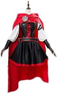 CHENJUNAMZ Envío Gratuito RWBY 3 Temporada Ruby Rose Cosplay del Vestido de Capa roja Batalla Uniforme del Traje de Las Mu...