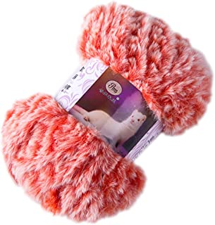 DIY Fluffy Plush Chunky Thick Knitting Yarn Multicolor Hand-Woven Crochet Velvet Thread for Baby Warm Hat Scarf Sweater(50...