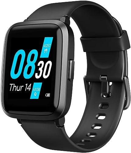 UFit Rastreador de Fitness Relógio Inteligente para Homens e Mulheres com Medidor de Oxigênio no Sangue, Monitor de F...