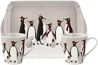 Sara Miller for Portmeirion X0011658945 Penguin Mug & Tray Set, Ceramic