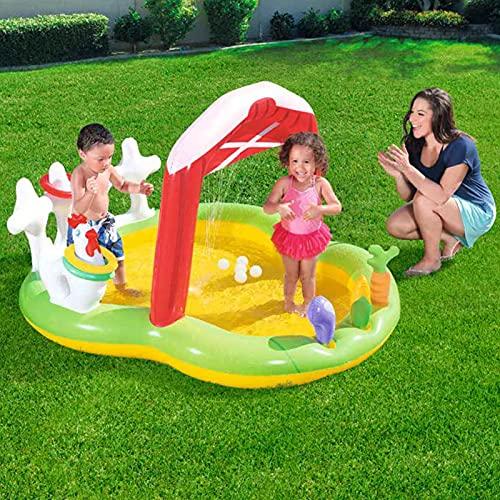 Kinderen Opblaasbaar Wading Pool Play Center, Opblaasbaar Zwembad Kiddie Pool met glijbaan, Leuke familie zwembad met…