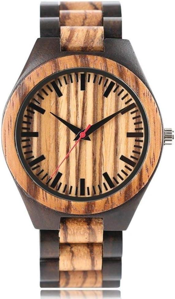 LCDIEB Wooden Watches Men Stripe Qua Strap Dapple Store Popular product Bamboo Pattern