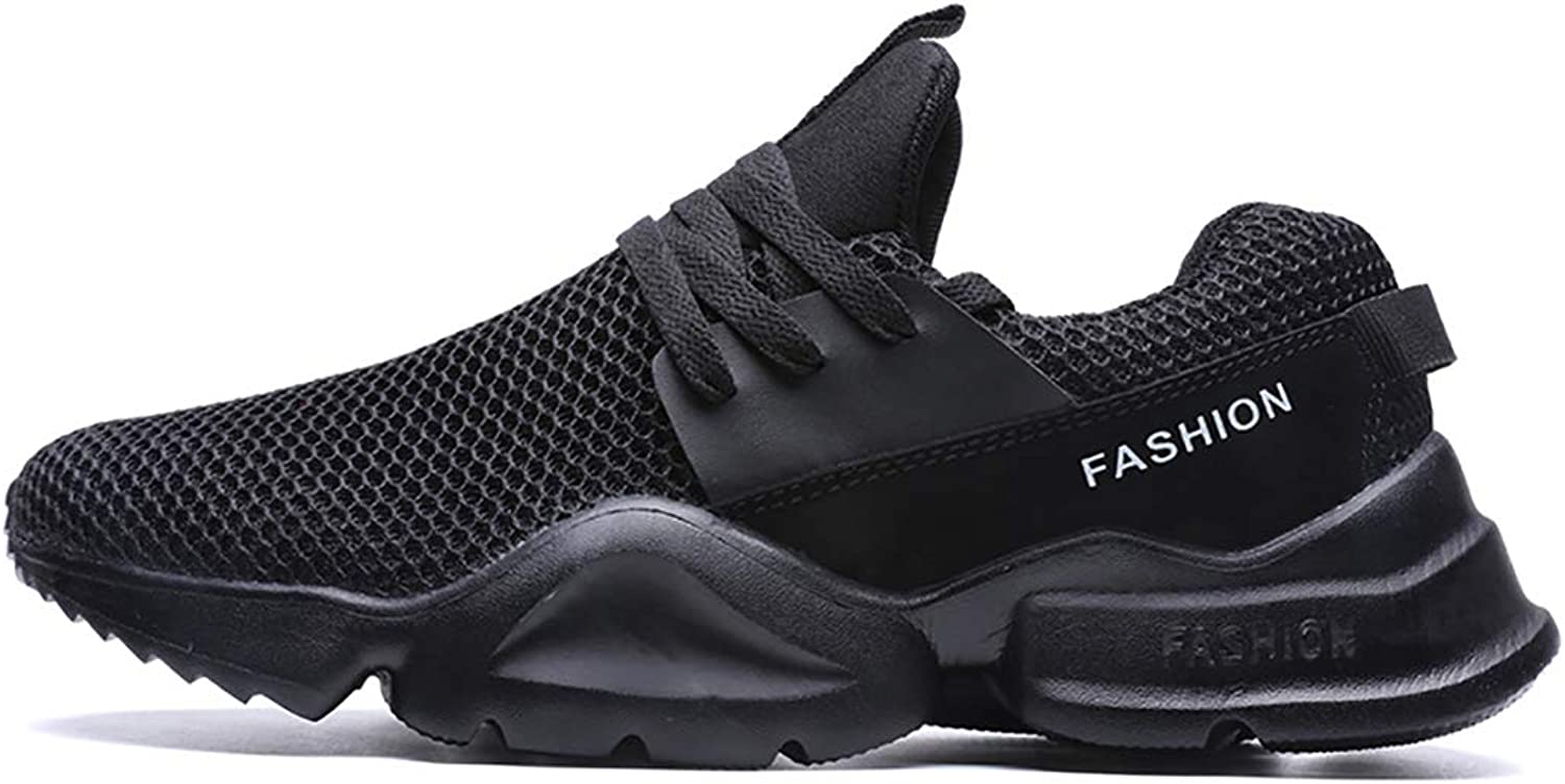 Mzq-yq Large Size Sports shoes Ins Breathable Lace Mesh shoes Men's shoes European Station Running shoes Fashion Wild