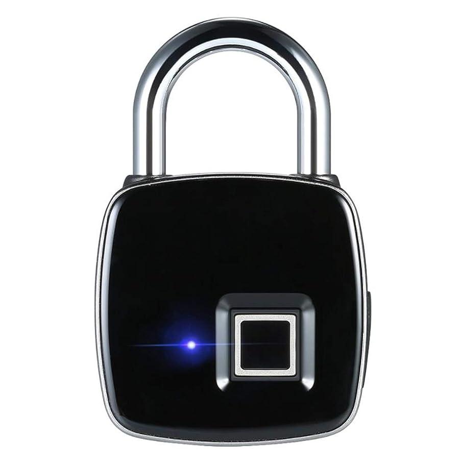 規制する血ケーキ電子インテリジェント指紋パスワード南京錠、USB充電付き超軽量指紋ロック、ロッカー、ハンドバッグ、ワードローブ、ジム用