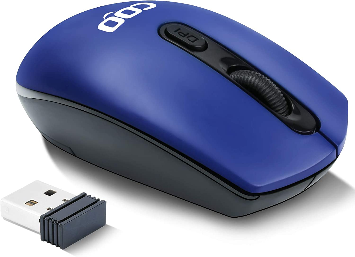 Wireless Computer Mouse,2.4G Wireless Optical Mouse with USB Receiver, Easy Click for Office and Home Mice,3 Adjustable DPI for Notebook, PC, Laptop, Computer, MacBook(Dark Blue)