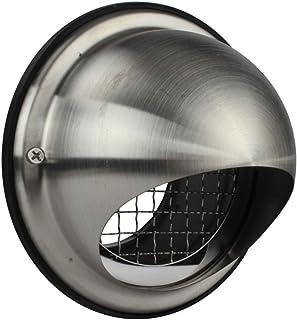 MKK Lüftungsgitter Ablufthaube Edelstahl Wetterschutz-Gitter Abluft Zuluft Wickelfalzrohr Durchmesser 125 mm