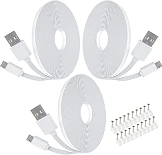 Power Extension Cable for Wyze Cam Pan,WyzeCam,Kasa Cam,YI Dome Home Camera,Furbo Dog,Nest Cam,Blink,Netvue,Oculus Go,Arlo...