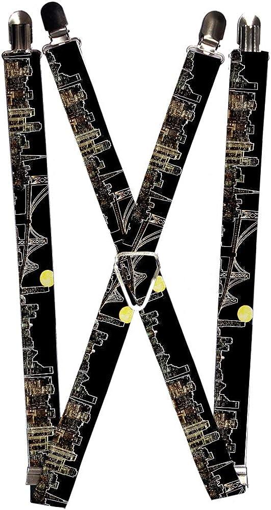 Buckle-Down Men's Suspender-San Francisco, Multicolor, One Size