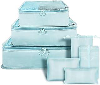 7Pcs Waterproof Travel Storage Bags Luggage Packing Organizers Foldable Suitcase Organizer