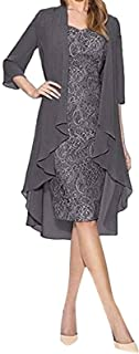 Two Pieces Bride Lace Dress Women Fashion Solid Color Mother of The Dresses