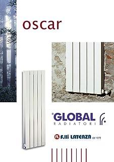 Radiador Global Oscar int. 1800Blanco de 08piezas radiadores Aluminio
