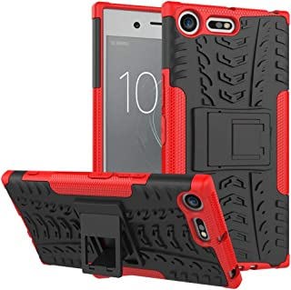 Ikwcase Xperia XZ Premium Case, Heavy Duty Armor Tough Hybrid Shockproof Dual Layer Kickstand Protective Case Cover for So...