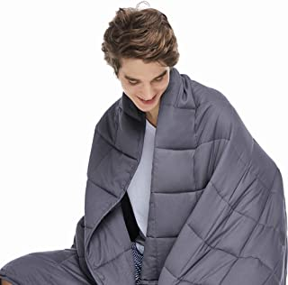 ZonLi Adults Weighted Blanket 20 lbs(60''x80'', Grey, Queen Size),..