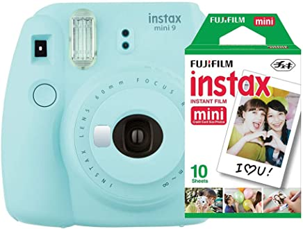 Câmera Instantânea Instax Mini 9 + Pack 10 fotos, Fujifilm, INSTAXKIT21A, Azul Acqua