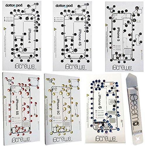 BisLinks Compatibile per iPhone 4 4S 5 5C 5S 6 iScrews Professionale Organiser Foglio Vassoio Spudger