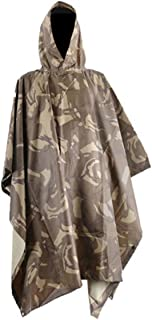 CAMTOA 3in1 Waterproof Rain Military Camouflage Poncho(7.05 4.79ft )/Multifunctional Raincoat - Camping Tent Rain Cover Outdoor with a Easy Carry Bag